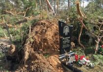 В Подмосковье сильным ветром разрушено кладбище